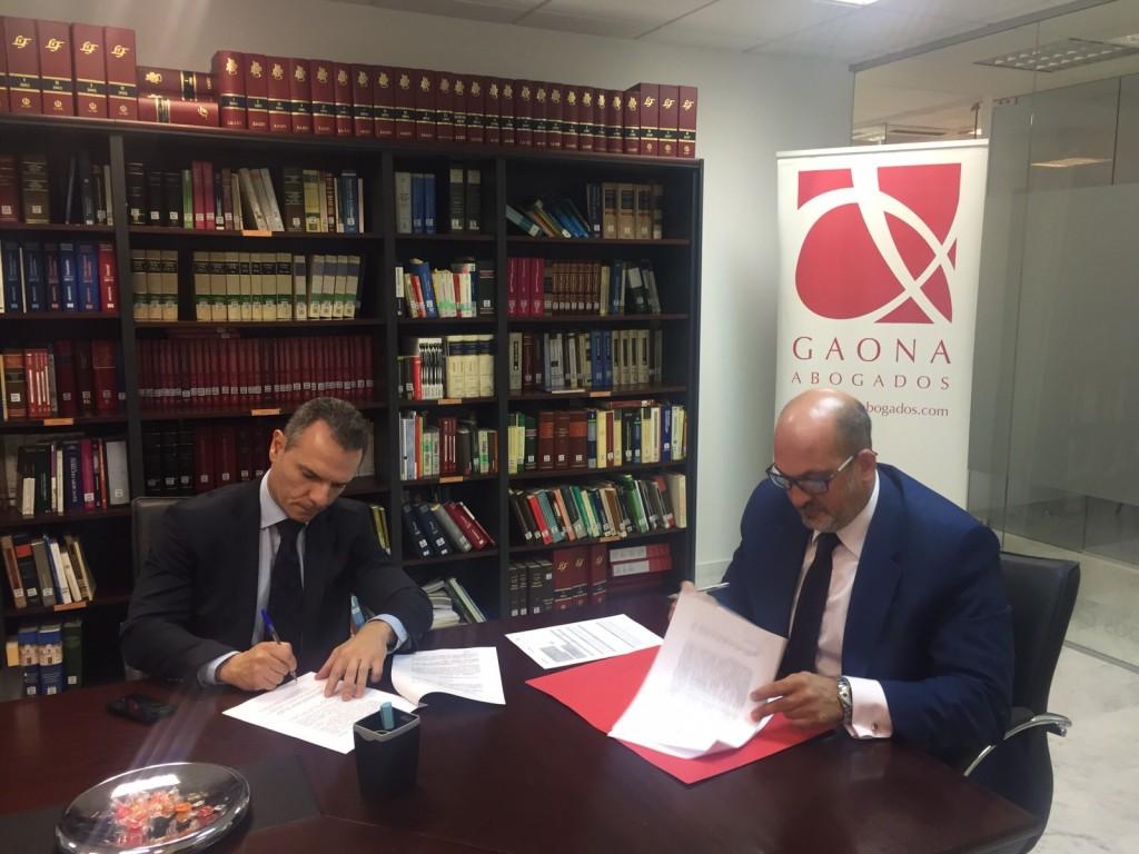 Firma AEMAVE con Gaona abogados