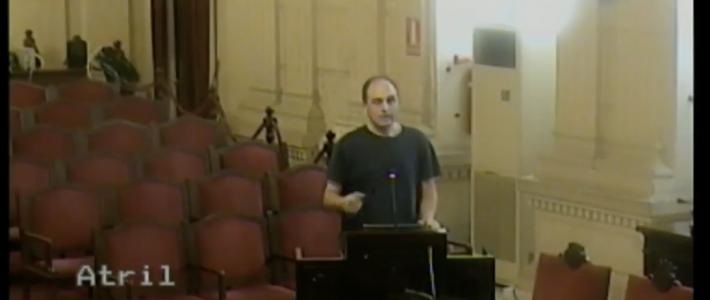 Intervención del presidente de AEMAVE en el pleno de sostenibilidad medioambiental del Ayuntamiento de Málaga