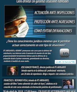 """Jornadas jurídicas. """"Defensa del profesional veterinario:  cómo afrontar con garantías situaciones habituales"""""""
