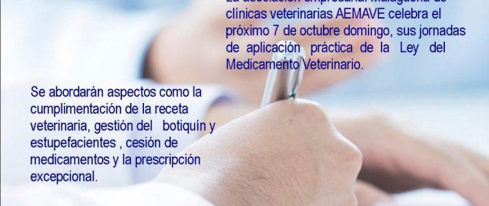 Jornadas de aplicación práctica de la ley del medicamento veterinario y respuesta a la inspección organizadas por AEMAVE