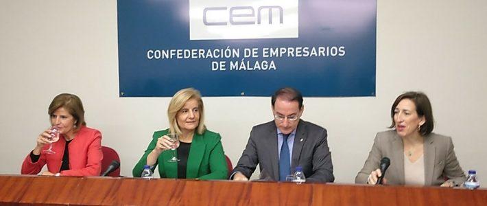 Reunión con Dña. Fátima Báñez y Dña. Esperanza Oña en la CEM