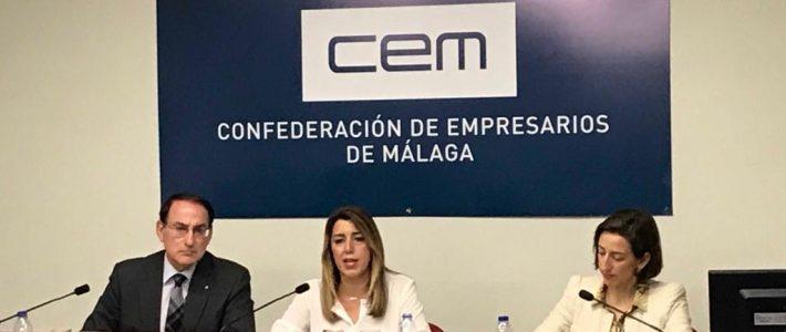 Reunión en la CEM (Confederación de empresarios de Málaga) con Dña. Susana Díaz